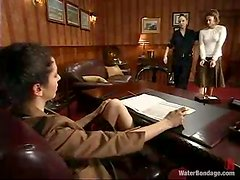 Princess Donna Dolore gets naughty with some girl in BDSM scene