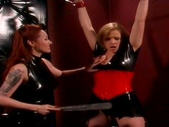 Delicious blond chic gets her ass slapped by horny domina