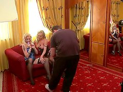 Famous milf Silvia Saint with smoking hot curvy body and pale blonde slut Stacy E with