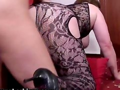 Nasty old lesbian housewife going crazy