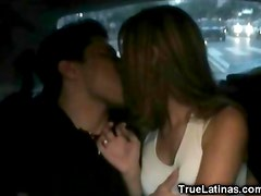 Latina Fucked on the Car Backseat