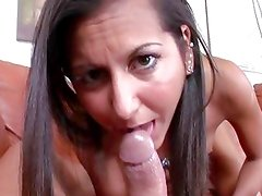 Big dick makes this brunette moan