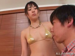 Dirty Japanese vixen is vibrating a hard cock