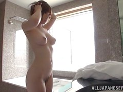 Morning shower with a slender chick Michiru