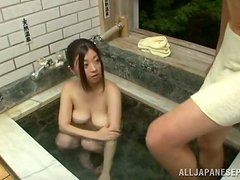 Hot Sex in the Bathtub with Horny Japanese Cock Sucking Girl