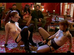 Couple Of Hotties Share Sex Toys in BDSM Scene