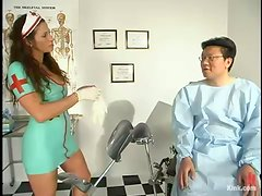Asian Dude Getting Dominated by Kinky Nurse Kym Wilde