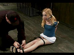 Small Titty Blonde Enjoys Abuse In BDSM Session