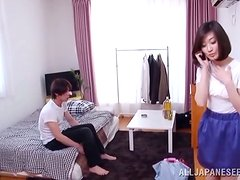 Desirable Japanese angel loves getting spanked in her mouth
