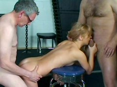 Over excited blond head Simone has a strong desire to suck dicks for cum