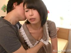 Chisato Matsud gets her bushy twat toyed and fucked hard