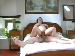 Hardcore sex video with wife in bed