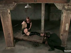 Blonde And Brunette Compete For Best Slave Prize!