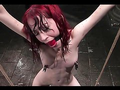 Dirty whore victim of water torture in bdsm scene