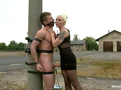 Masked Dude Getting Fucked by Lorelei Lee's Strapon in Pegging Vid