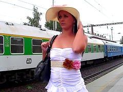Pissing at the train station