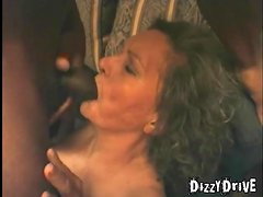 Grannies and a black guy make a threesome