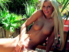 Blonde impales her tight anal hole