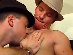 Cowboys in caps are fucking in anal holes