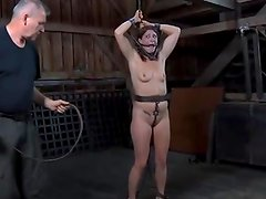 Muzzled young woman desires Batty taming