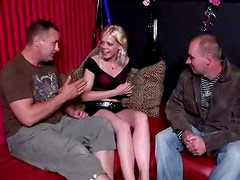 Horny Arthur from England interviews a real blond whore and wanna be pleased