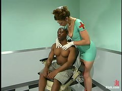 Kym Wilde Fucks a Small Black Guy's Ass with Strapon in Wild Femdom Vid