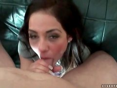 Young lady in handcuffs fucked in missionary