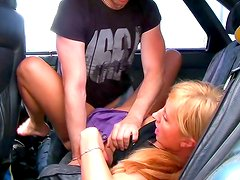 Zoya gets nailed in the car