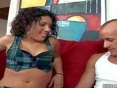 Lola is another easy flirtatious sexy chick. Curly haired chica