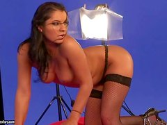 Sandra Shine, Lily Love and Lucy Belle show off their