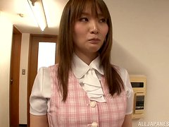 Banging a Hot Japanese's Pussy in the Office's Lunch Place