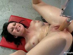 Veruca James enjoys getting her snatch smashed by a fucking machine