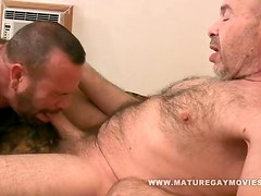 Hairy Daddy Gets Fucked By Mature Friend