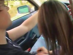 18yo russian girl banged on the car