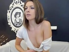 Cute Legal Age Teenager Undresses and Inserts a Biggest Sex Tool