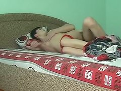 Black haired amateur bitch gets warmed up by being fucked from behind tough