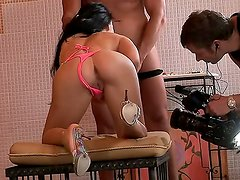 Aletta Ocean with massive tits gets satisfaction with