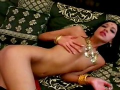 Skinny Indian hoe is getting eaten dry while sucking another dick. MMF threesome
