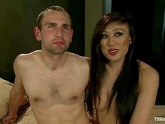 Dominant Asian Shemale Venus Lux Riding and Fucking a Submissive Guy