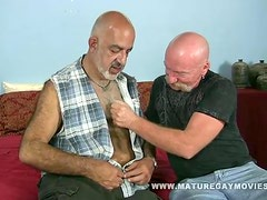 Skinny Daddy Fucks His Mature Friend