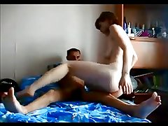 Amateur redhead wife gets fucked