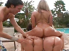 Hot Foursome By The Pool With Bootylicious Sluts