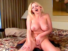 Sexy blonde is naughty and wild