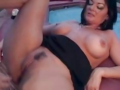 Trailer Trash MILF Fucking By The Pool