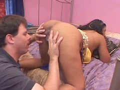 Skanky Indian milf gets her oversized nipples and brownish pussy tongue fucked