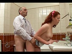Redhead Hottie's Fucked By Her Old Teacher