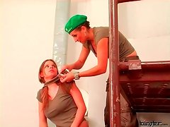 Girl takes a beating and abuse in femdom video