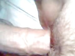 My slut wifes pussy being loaded by her lover cum.