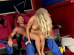Blonde Michelle Moist rides rock solid ram rod