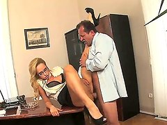Aleska Diamond is in heaven eating guys throbbing meat stick